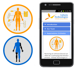 Infinite Technologies Orthotics and Prosthetics ITOP app for physicians